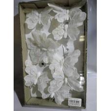 Бабочки 8 см на прищепке 12шт